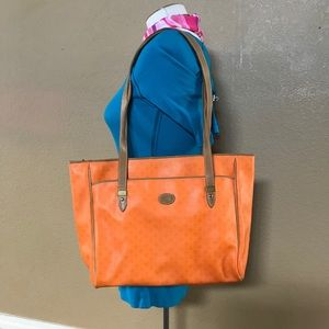 Vintage Liz Claiborne Orange Tote Bag